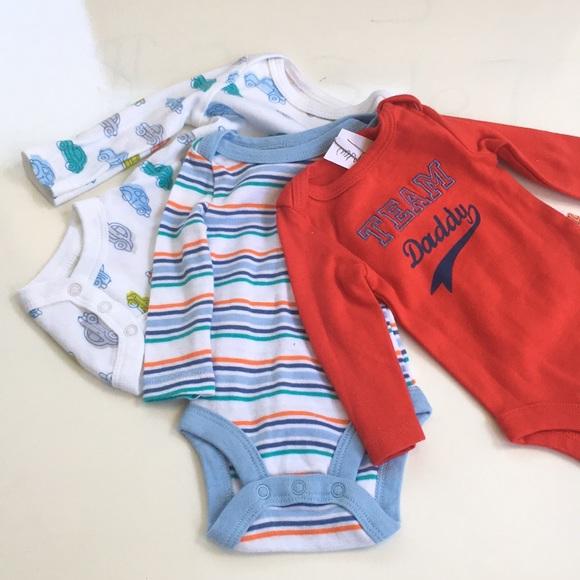 Red Fireman Bodysuit One Piece Romper Long Sleeve Baby Boy 0-3 Months NWT